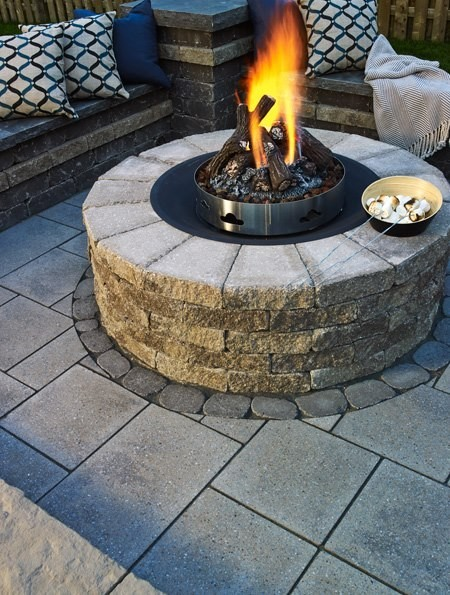 Chase away the chill with Fire Pits from Techo- Bloc