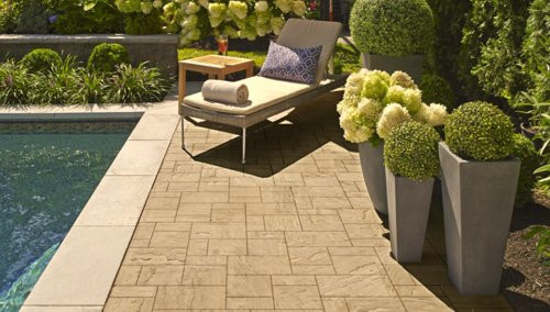 Elegant and fits any budget! Eva paver brings distinctive style to your outdoor living area