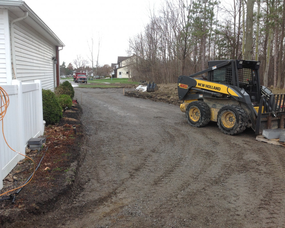 Tear Out, Excavation & Base Prep for Driveway Extension with Curbing